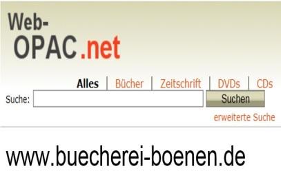 Online-Katalog unter www.buecherei-boenen.de